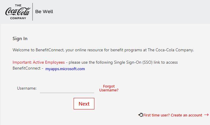 Coca-Cola Employee Benefits Login