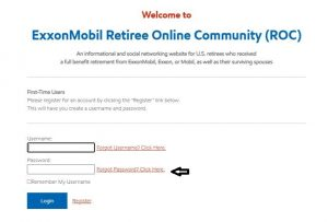 Exxonmobil Employee Benefits Login forgot password 1